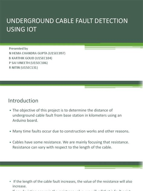 Underground Cable Fault Detection Using Iot | Relay | Switch
