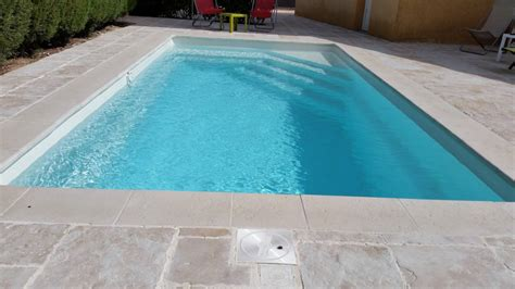 Coque polyester rectangulaire ALLIANCE PISCINES, fond plat
