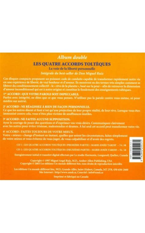 CD - LES 4 ACCORDS TOLTEQUES - Libreentreprise