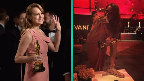 Brie Larson Celebrates Her Oscar Win With a Burger and a