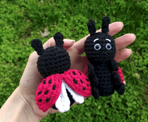 Crochet ladybug - Free Pattern: Quick and Easy