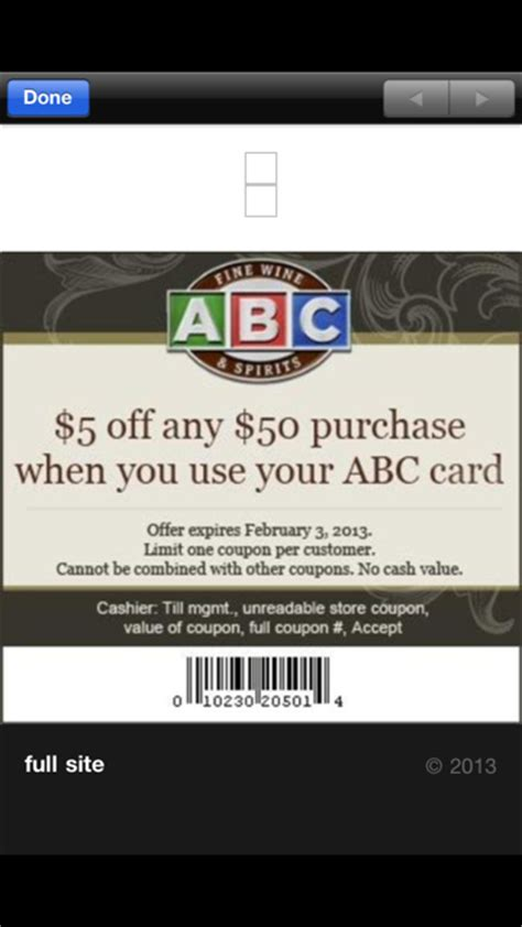 ABC Liquor $5 off $50 Coupon - Who Said Nothing in Life is