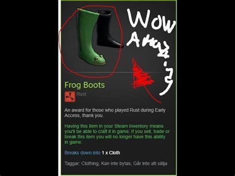 RUST - How To Get Frog Boots - YouTube