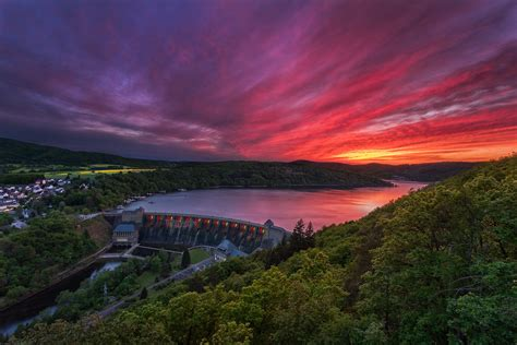 edersee sunset | The 'Edersee' is the second largest