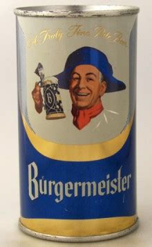 Burgermeister Beer Can from Burgermeister Brewing Co