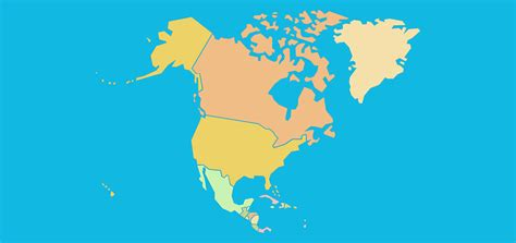 Countries of North America - Map Quiz Game