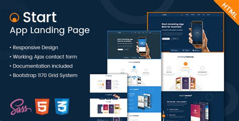 Start - App Landing Page HTML Template by Kalanidhithemes