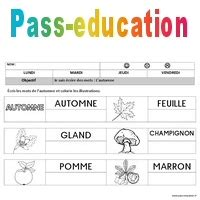 Automne - Ecriture - Maternelle - Petite section - Moyenne