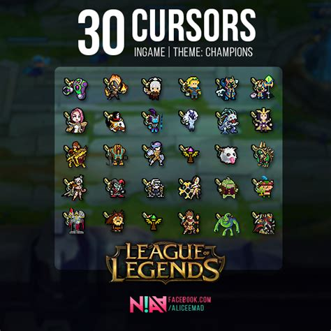 30 Champion Cursors Ingame #2 - League of Legends by