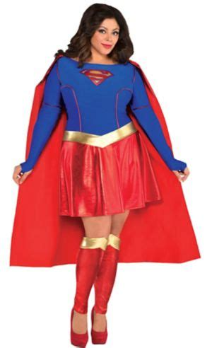 Adult Supergirl Costume Plus Size - Superman - Party City