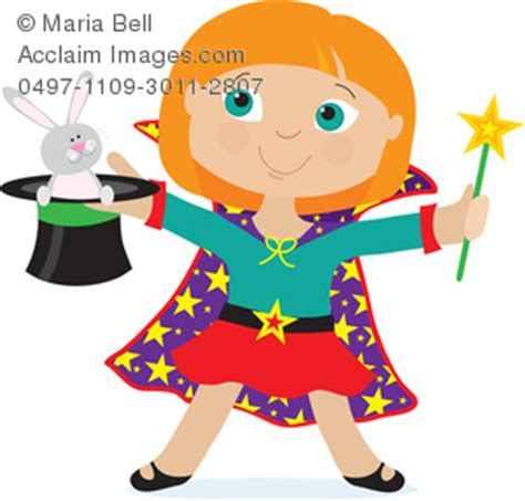 Girl Magician Clipart Image