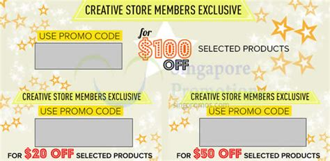Creative Store Up To $100 OFF (NO Min Spend) Coupon Codes