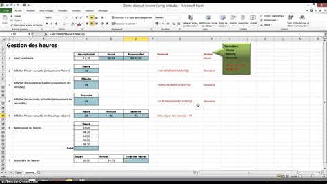 Excel 2010 Gestion des heures - YouTube