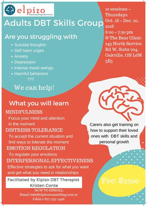 Adults Dialectical Behavior Therapy (DBT) Oct