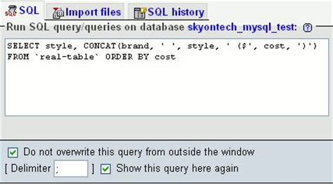 Creating a MySQL View directly in phpMyAdmin | Sky on Tech